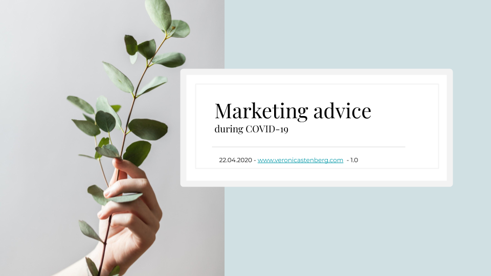 Marketing advice during COVID-19